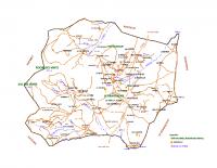 Carte détaillée de la commune de Saint-Alban-d'Ay